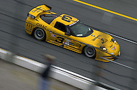 "The #3 ""Earnhardt"" Corvette speeds through the tri-oval..39th Rolex 24 at Daytona, 3/4 February,2001 Daytona International Speedway  Daytona Beach,Florida,USA.©F.Peirce Williams 2001 .."