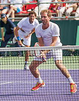 Moscow, Russia, 16 th July, 2016, Tennis,  Davis Cup Russia-Netherlands, Doubles : Matwe Middelkoop (NED) / Robin Haase (NED) (L)<br /> Photo: Henk Koster/tennisimages.com