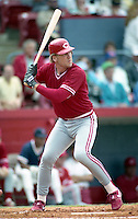 Cincinnati Reds Joe Oliver during spring training circa 1991 at Chain of Lakes Park in Winter Haven, Florida.  (MJA/Four Seam Images)