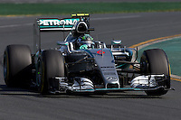 March 15, 2015: Nico Rosberg (DEU) #6 from the Mercedes AMG Petronas F1 Team rounds turn 2 during the 2015 Australian Formula One Grand Prix at Albert Park, Melbourne, Australia. Photo Sydney Low