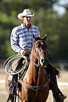 JUNCTION, TX - AUGUST 9, 2008: The Hill Country Fair Association Summer Classic Ranch Rodeo held at the Hill Country Fair Association Fairgrounds. (Photo by Jeff Huehn)