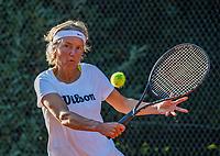 Hilversum, The Netherlands,  August 23, 2019,  Tulip Tennis Center, NSK, Jeanette Ozinga (NED)<br /> Photo: Tennisimages/Henk Koster