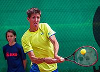 The Hague, Netherlands, 09 June, 2018, Tennis, Play-Offs Competition, Yannick Mertens (BEL)<br /> Photo: Henk Koster/tennisimages.com