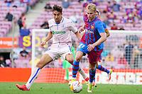 29th August 2021; Nou Camp, Barcelona, Spain; La Liga football league, FC Barcelona versus Getafe; De Jong of Barca breaks forward on the ball