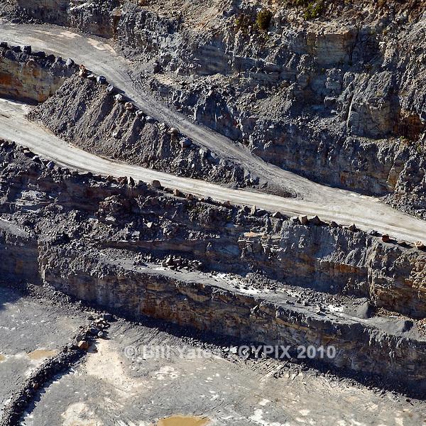 Stone quarry Benson North Carolina helicopter aerial