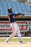 Daz Cameron (24) of Eagles Landing Christian Academy in McDonough, Georgia playing for the Atlanta Braves scout team during the East Coast Pro Showcase on August 2, 2014 at NBT Bank Stadium in Syracuse, New York.  (Mike Janes/Four Seam Images)