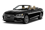 2019 Audi A5-Cabriolet Premium-Plus 2 Door Convertible Angular Front stock photos of front three quarter view