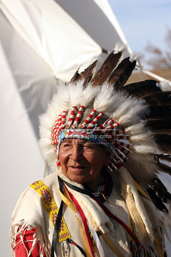 Native American Indian Chief in a headdress