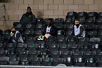 2nd October 2020; Tannadice Park, Dundee, Scotland; Scottish Premiership Football, Dundee United versus Livingston; Livingston substitutes in the stand at Tannadice with social distancing