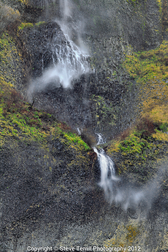 Mist Falls in Columbia River Gorge National Scenic Area