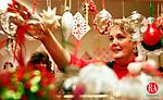WOODBURY,CT. 11/21/98--1123SV01.tif-- Bonnie Stephens of Woodbury shops for Christmas ornaments at the Woodbury North Congregational Church Christmas Fair on Saturday. Steven Valenti Photo