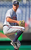 25 September 2010: Atlanta Braves pitcher Jonny Venters in action against the Washington Nationals at Nationals Park in Washington, DC. The Braves shut out the Nationals 5-0 to even their 3-game series at one win apiece. The Braves' victory was the 2500th career win for skipper Bobby Cox. Cox will retire at the end of the 2010 season, crowning a 29-year managerial career. Mandatory Credit: Ed Wolfstein Photo