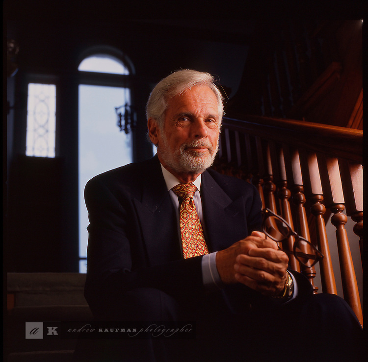 Ellis Rubin Civil Rights Attorney at his office in Miami. Shot for South Florida Magazine.