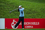 Lin Xiyu of China tees off at the 10th hole duringRound 1 of the World Ladies Championship 2016 on 10 March 2016 at Mission Hills Olazabal Golf Course in Dongguan, China. Photo by Victor Fraile / Power Sport Images