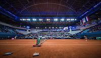 Bratislava, Slovenia, April 23, 2017,  FedCup: Slovakia-Netherlands,First rubber sunday,  Overall vieuw<br /> Photo: Tennisimages/Henk Koster