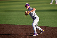 LSU Tigers infielder Zach Arnold (2) warms up prior to the game against the Tennessee Volunteers on Robert M. Lindsay Field at Lindsey Nelson Stadium on March 26, 2021, in Knoxville, Tennessee. (Danny Parker/Four Seam Images)