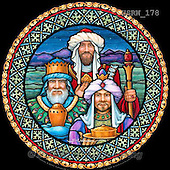 Randy, HOLY FAMILIES, HEILIGE FAMILIE, SAGRADA FAMÍLIA, paintings+++++SG-Three-Kings-with-border,USRW178,#xr# ,church window, stained glass