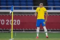 22nd July 2021; Stadium Yokohama, Yokohama, Japan; Tokyo 2020 Olympic Games, Brazil versus Germany; Richarlison of Brazil celebrates his goal in the 6th minute 1-0