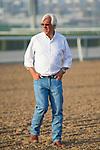 DUBAI,UNITED ARAB EMIRATES-MARCH 30: Bob Baffert,trains Mubtaahij and West Coast (Dubai World Cup) at Meydan Racecourse on March 30,2018 in Dubai,United Arab Emirates (Photo by Kaz Ishida/Eclipse Sportswire/Getty Images)
