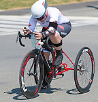MILTON, ON, AUGUST 13, 2015. Cycling time trials, including Canadian Marie-Eve Croteau.<br /> Photo: Dan Galbraith/Canadian Paralympic Committee