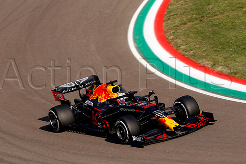 Motorsports: FIA Formula One World Championship, WM, Weltmeisterschaft 2020, Grand Prix of Emilia Romagna, 33 Max Verstappen NLD, Aston Martin Red Bull Racing 3rd on pole in Imola Italy
