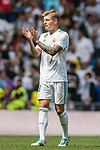 Toni Kroos of Real Madrid gestures during the La Liga match between Real Madrid and Levante UD at the Estadio Santiago Bernabeu on 09 September 2017 in Madrid, Spain. Photo by Diego Gonzalez / Power Sport Images