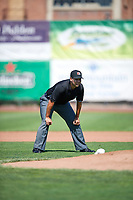 Umpire Edgar Morales during the game as the Idaho Falls Chukars faced the Ogden Raptors in Pioneer League action at Lindquist Field on July 2, 2017 in Ogden, Utah. Ogden defeated Idaho Falls 6-5. (Stephen Smith/Four Seam Images)