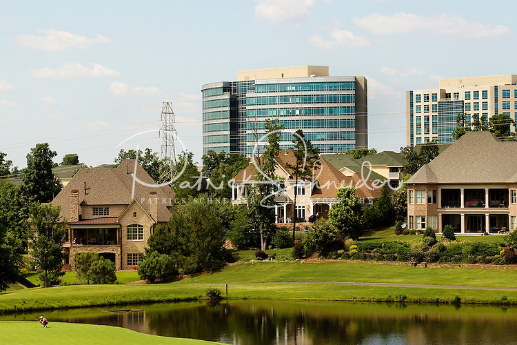 Luxury living in Ballantyne, a suburb of Charlotte NC, located near the South Carolina border. The 2,000-acre mixed-use development was created by land developer Howard C. Smokey Bissell.
