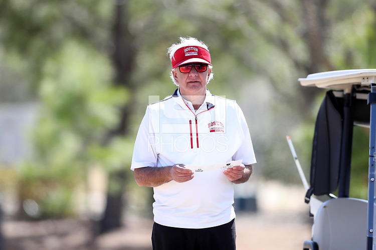 WALLACE, NC - MARCH 09: Head coach Bruce Chalas of Boston University at River Landing Country Club on March 09, 2020 in Wallace, North Carolina.