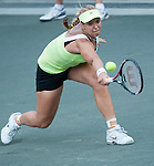 Sabine Lisicki (GER) battles at the Family Circle Cup in Charleston, South Carolina on April 4, 2012.