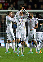 Sunday 09 November 2014 <br /> Pictured: Ki Sung Yueng of Swansea<br /> Re: Barclays Premier League, Swansea City FC v Arsenal City at the Liberty Stadium, Swansea, Great Britain.
