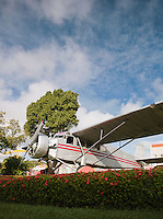 The plane of Jimmy Angel, the first westerner to discover Angel Falls, now a monument at Ciudad Bolivar Airport, Vanezuela