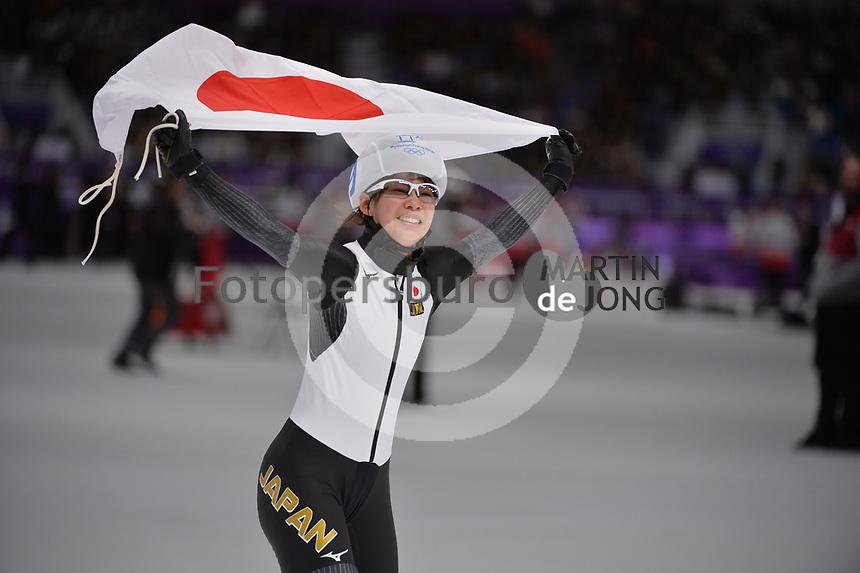 OLYMPIC GAMES: PYEONGCHANG: 24-02-2018, Gangneung Oval, Long Track, Mass Start Ladies, Olympic Champion Nana Takagi (JPN), ©photo Martin de Jong