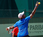 Donald Young (USA)  plays in the first round at Roland Garros in Paris, France on May 29, 2012