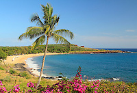 Hulapoe Beach. The Four Seasons at Manele Bay on Lanai, Hawaii.