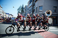 The Cycle Orchestra before the race.<br /> <br /> 90th Schaal Sels 2015