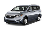 2017 Nissan Quest SV 5 Door Minivan Angular Front stock photos of front three quarter view
