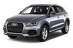2015 Audi Q3 Sport 5 Door SUV angular front stock photos of front three quarter view
