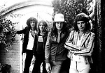 Queen 1975 Brian May Roger Taylor John Deacon and Freddie Mercury at Ridge Farm in Surrey August 1st 1975<br /> © Chris Walter