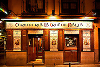 Cerveceria La Cruz de Malta, Madrid, Spain