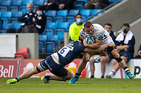 28th May 2021; AJ Bell Stadium, Salford, Lancashire, England; English Premiership Rugby, Sale Sharks versus Bristol Bears; Ben Earl of Bristol Bears is tackeld by Tom Curry of Sale Sharks