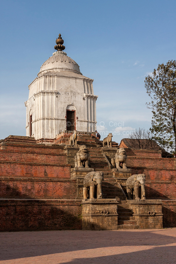 Bhaktapur, Nepal. Fasidega temple, dedicated to Shiva.  The temple was completely destroyed in the April 2015 earthquake.
