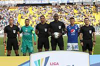 BOGOTÁ - COLOMBIA, 2-02-2020:Jhon Hinestroza Romaña, árbitro, durante partido entre Millonarios  y La Equidad por la fecha 3 de la Liga BetPlay I 2020 jugado en el estadio Nemesio Camacho El Campín de la ciudad de Bogotá. / Jhon Hinestroza Romaña, referee, during the match between Millonaros and La Equidad for the date 3 as part of BetPlay League I 2020 played at Nemesio Camacho El Campin stadium in Bogota. Photo: VizzorImage / Felipe Caicedo / Staff