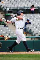 Trenton Thunder outfielder Slade Heathcott (11) during game against the Akron Aeros at ARM & HAMMER Park on April 17, 2013 in Trenton, New Jersey.  Akron defeated Trenton 10-6.  Tomasso DeRosa/Four Seam Images