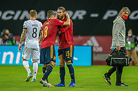 17th November 2020;  Estadio La Cartuja de Sevilla, Seville, Spain; UEFA Nations League Football, Spain versus Germany;   Sergio Ramos (esp) celebrates with Koke (esp)