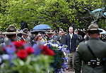 Shawn Mahan sings at the annual Law Enforcement Officers Memorial Ceremony on the Capitol grounds in Carson City, Nev. on Thursday, May 5, 2016. The name of Carson City Sheriff's Deputy Carl Howell was added to the memorial after he was killed in the line of duty in Aug. 2015.<br />Photo by Cathleen Allison/Nevada Photo Source