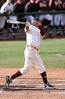 Johnny Ruettiger #23 of the Arizona State Sun Devils bats against the University of New Mexico Lobos in game three of the 2011 season opening series on February 20, 2011 at Packard Stadium, Arizona State University, in Tempe, Arizona..Photo by:  Bill Mitchell/Four Seam Images.