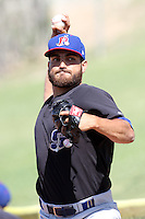 Josh Bowman #11 of the Stockton Ports warms up before pitching against the High Desert Mavericks at Stater Bros. Stadium on May 27, 2012 in Adelanto,California. High Desert defeated Stockton 6-5.(Larry Goren/Four Seam Images)