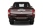 Straight rear view of 2020 Mitsubishi L200 Invite 4 Door Pick-up Rear View  stock images