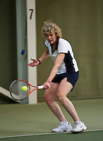 Hilversum, The Netherlands, 05.03.2014. NOVK ,National Indoor Veterans Championships of 2014, Karien Theeuwes (NED)<br /> Photo:Tennisimages/Henk Koster